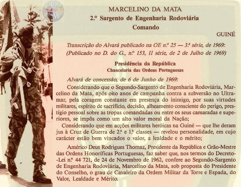 Marcelino da Mata – O dever de ajudar um Herói de Portugal Marcel13