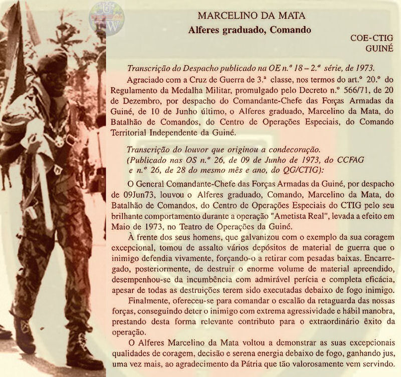 Marcelino da Mata – O dever de ajudar um Herói de Portugal Marcel16