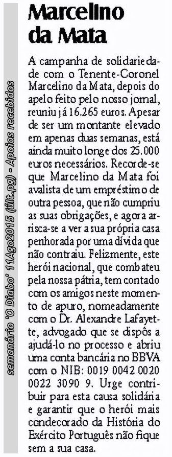 Marcelino da Mata – O dever de ajudar um Herói de Portugal Marcel17