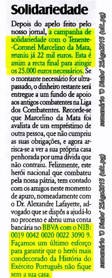 Marcelino da Mata – O dever de ajudar um Herói de Portugal Marcel18