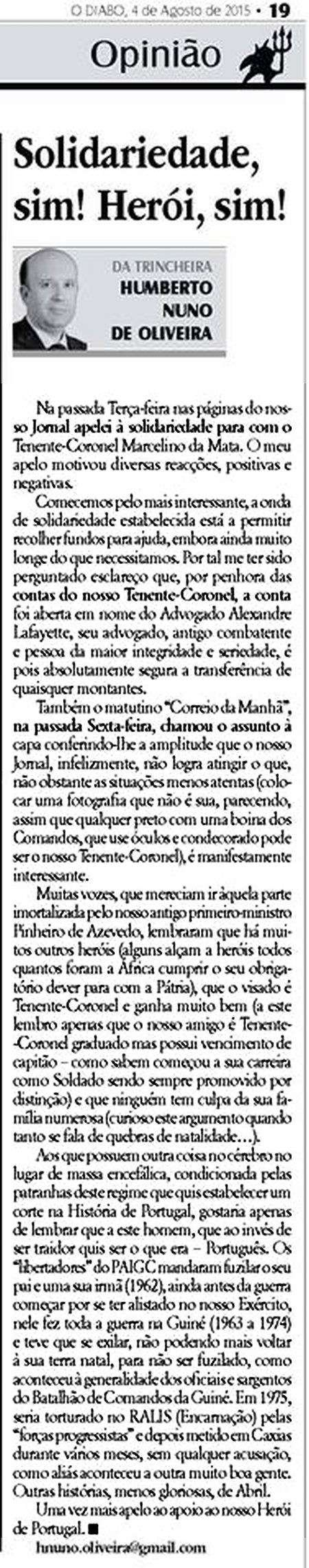 Marcelino da Mata – O dever de ajudar um Herói de Portugal Solida10