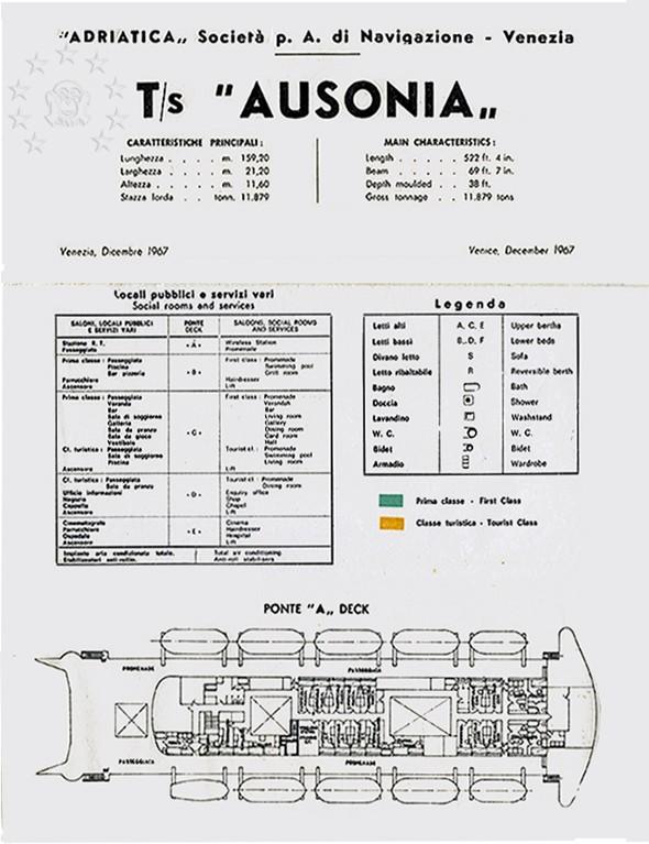 ' T/n Ausonia' - Adriatica - 1957 11_dec10