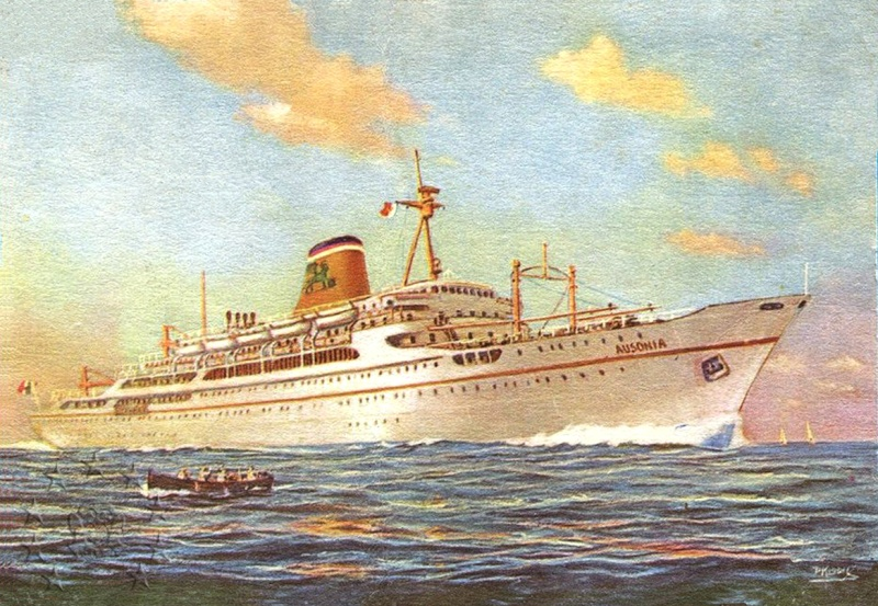 ' T/n Ausonia' - Adriatica - 1957 22a_9510