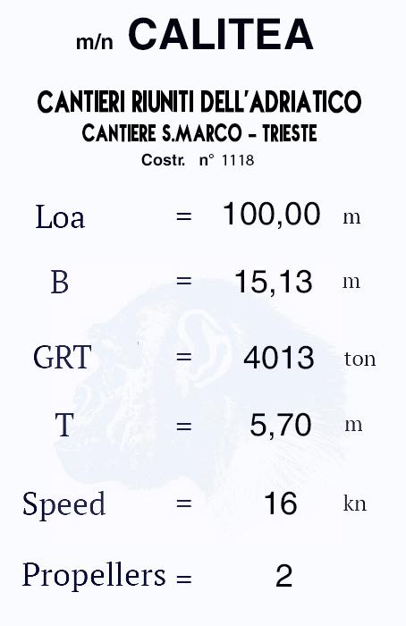 "motonave ""Calitea"" - Lloyd Triestino -1933 Calite11"