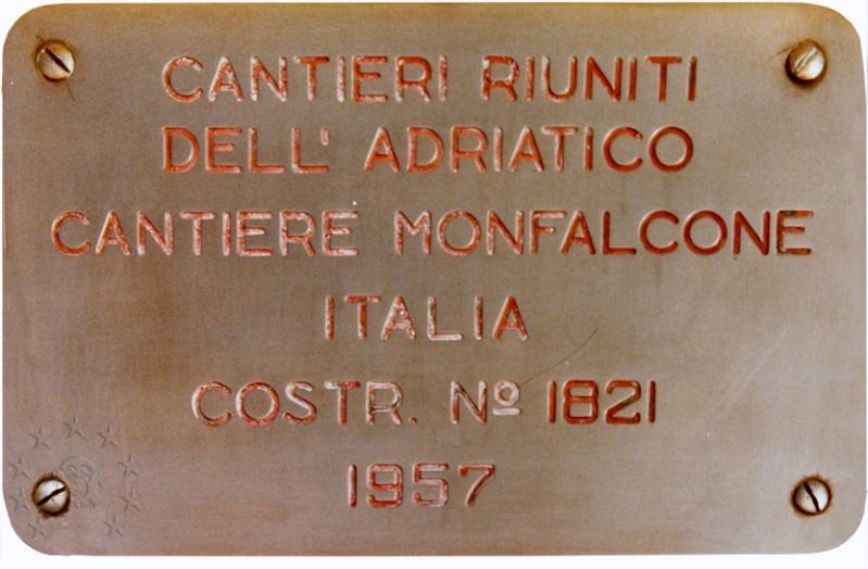 ' T/n Ausonia' - Adriatica - 1957 Placca10