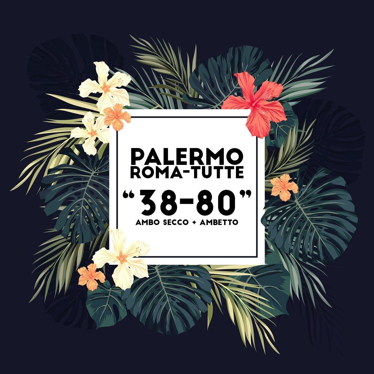 Condividi il nuovo ambo dell'estate di Fabrizio! Palerm10