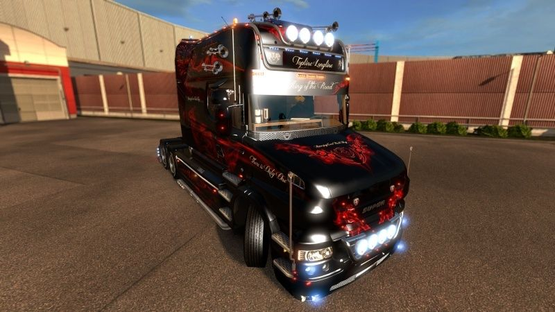 MOD : Pack Longline Scania T & Streamline Edition Smoke Red Ets2_012