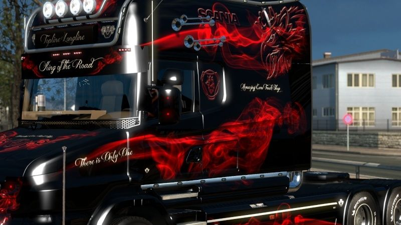 MOD : Pack Longline Scania T & Streamline Edition Smoke Red Ets2_023