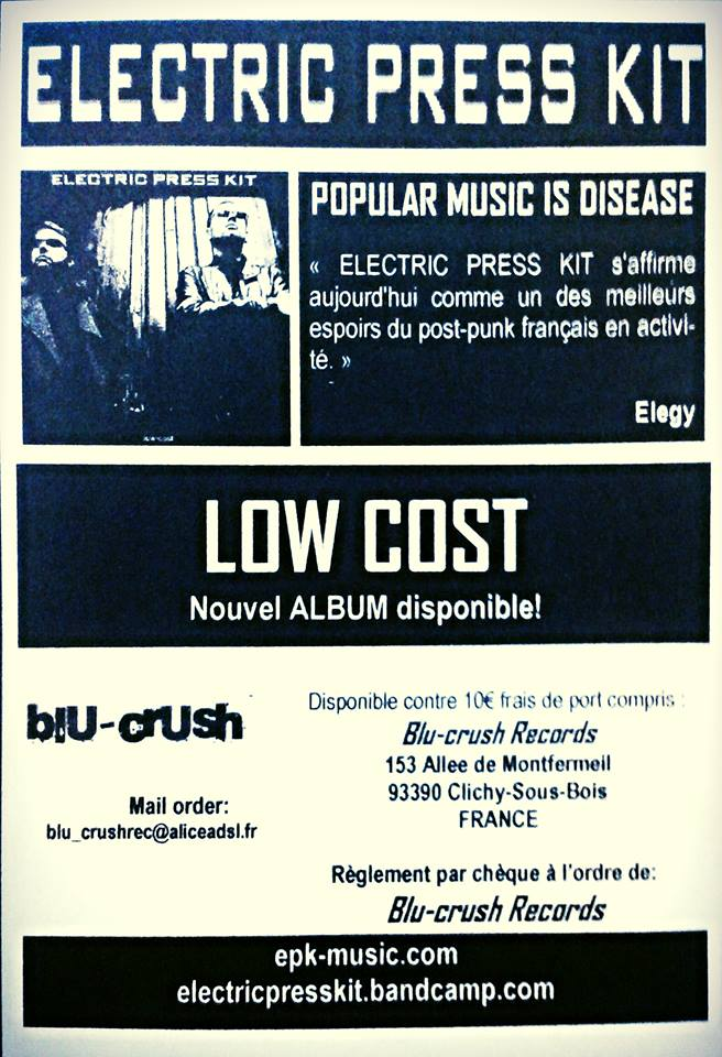 """ELECTRIC PRESS KIT """"LOW COST"""" Nouvel album! Flyer_10"""