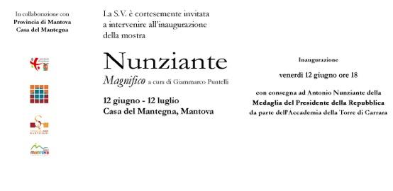 Nunziante a Mantova - Casa del Mantegna - 12/06-12/07 2015 Invito10