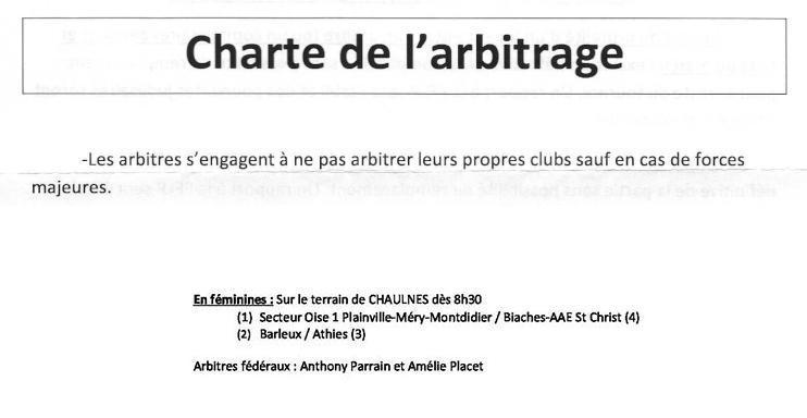 charte de l'arbitrage Charte10