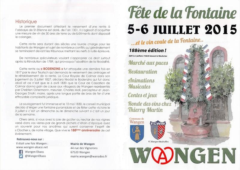 188 ème édition de la Fête de la Fontaine de Wangen, 5-6 juillet 2015 Ff_20110