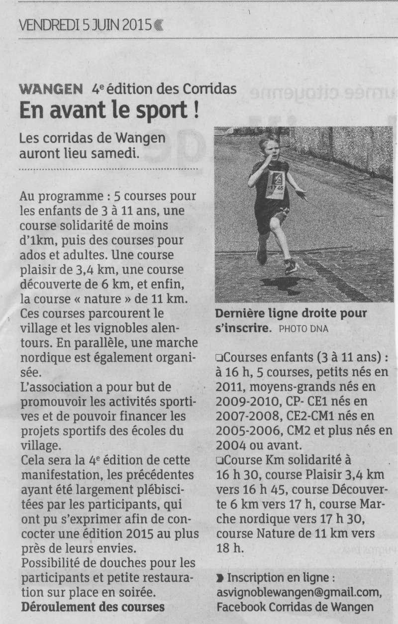 Les Corridas de Wangen, 4ème édition, samedi 6 juin 2015 Image012