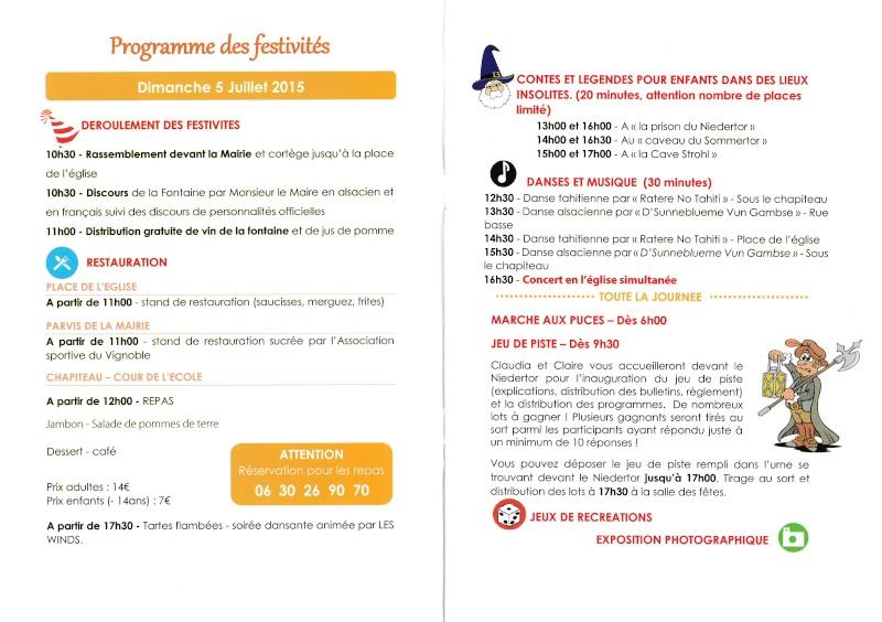 188 ème édition de la Fête de la Fontaine de Wangen, 5-6 juillet 2015 Img_2010