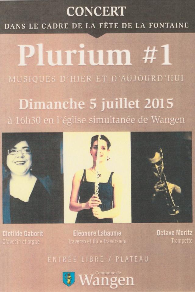 Plurium #1 en concert à Wangen dimanche 5 juillet 2015 à 16h30 à l'occasion de la 188ème  fête de la fontaine Img_2016