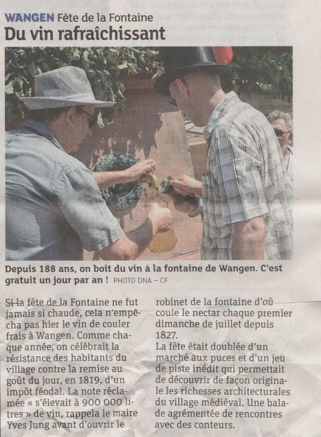 188 ème édition de la Fête de la Fontaine de Wangen, 5-6 juillet 2015 Img_2018