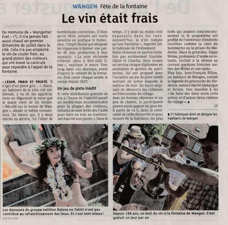 188 ème édition de la Fête de la Fontaine de Wangen, 5-6 juillet 2015 Img_2020