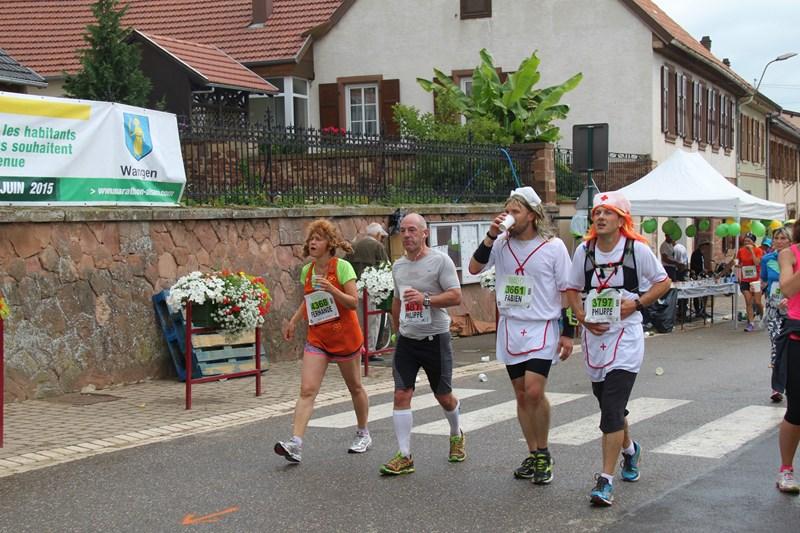 11 ème édition du Marathon du Vignoble d'Alsace et son passage à Wangen le 21 juin 2015 Img_8234