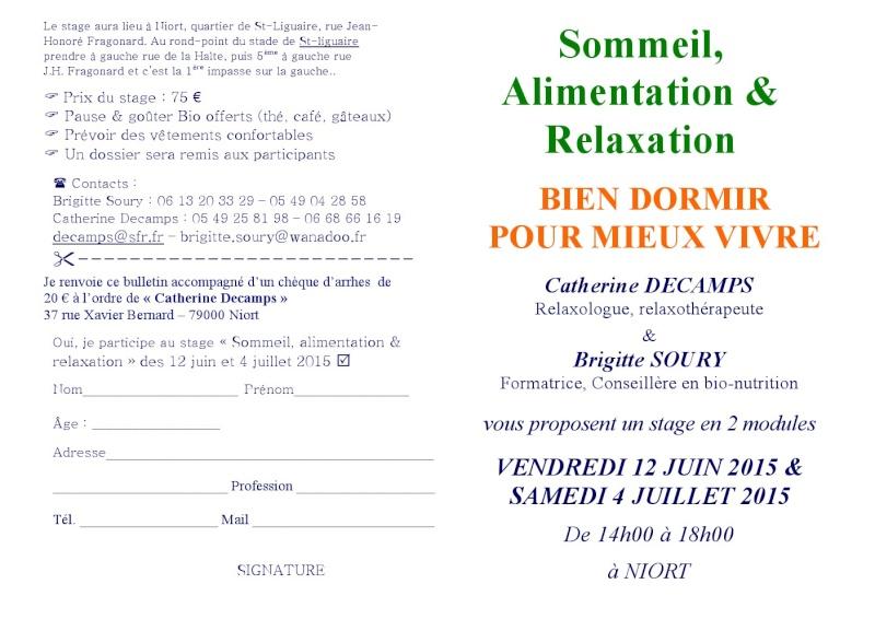 """""""Bien dormir pour vivre mieux"""", stage en 2 temps le 12 juin et 4 juillet 2015 000110"""