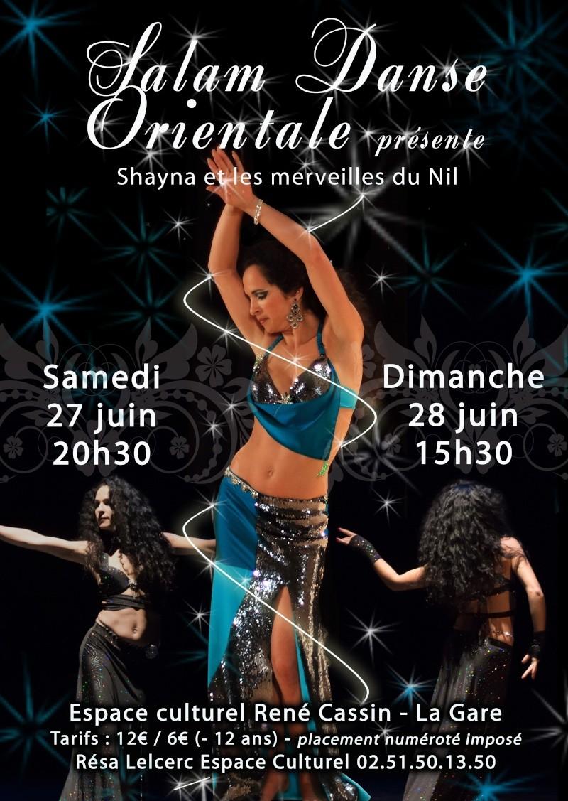 Spectacle de danse orientale le 27 et 28 juin 2015 à l'espace René Cassin,  Fontenay le Comte Affich10