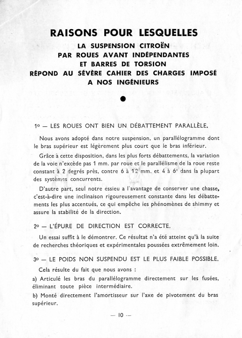 reglage du train avant torpedo10 B a roues avant independantes Page0110