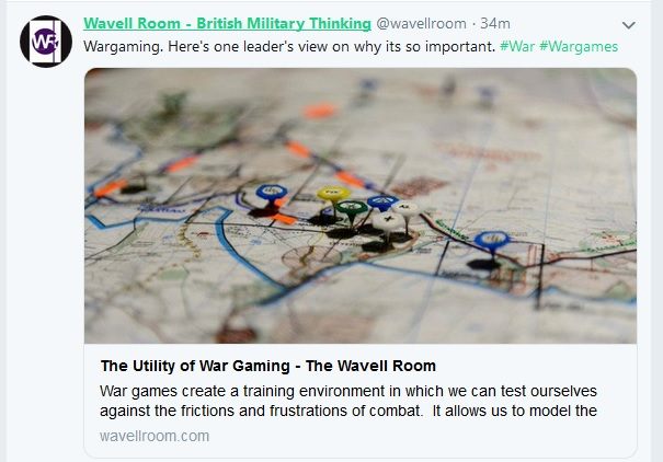Wargaming in the military Wavell10