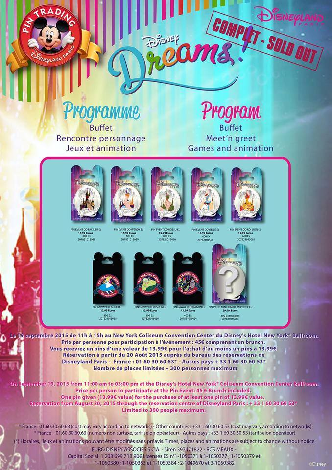 [Pin Trading Event] Dream (19 septembre 2015) 11219011