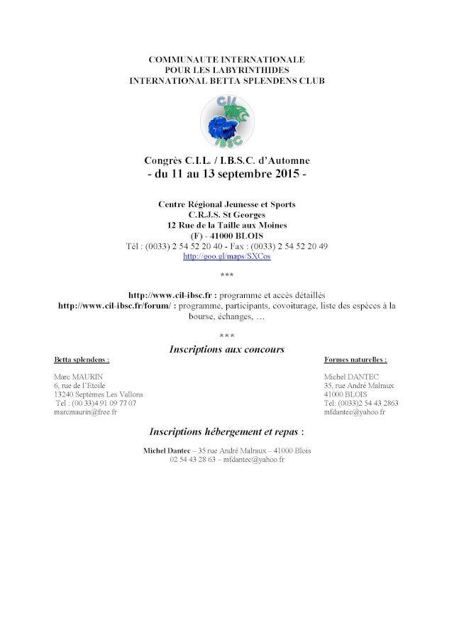 Blois, Challenge International 2015, 11/13 septembre. Congre10