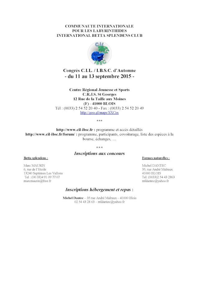 Blois, Challenge International 2015, 11/13 septembre. Congre10