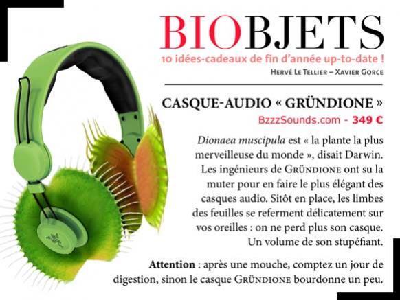 """BIOBJETS - Casque-audio """"Gründione"""" H_11_i10"""