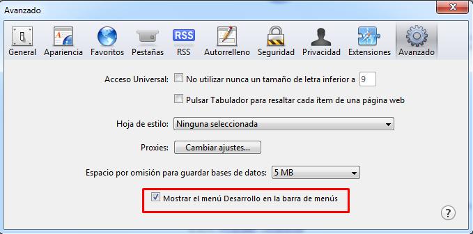 Emular version movil en cualquier navegador Safari11