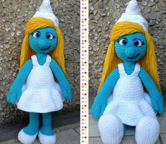 schtroumpfs au crochet  et couture  - Page 3 Croche10