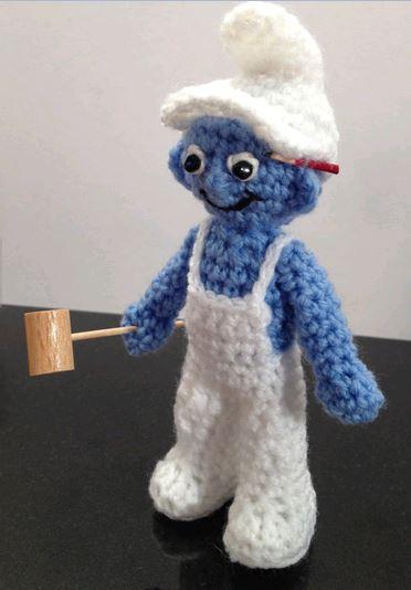 schtroumpfs au crochet  et couture  - Page 3 Croche11