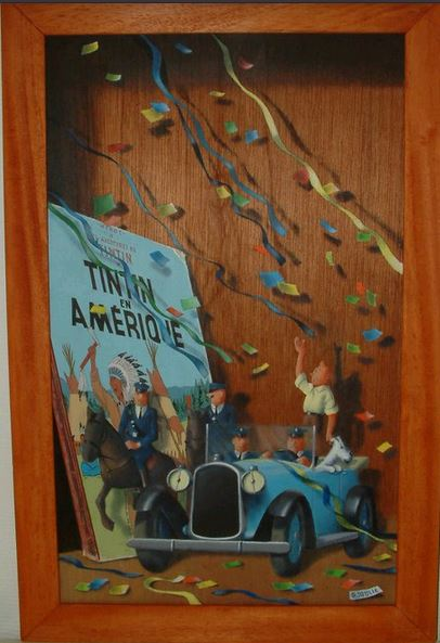 les tableaux trompe l'oeil de Gilbert Soulié Tintin10