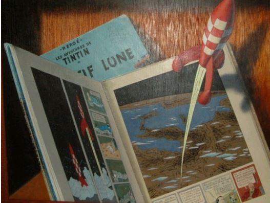 les tableaux trompe l'oeil de Gilbert Soulié Tintin11