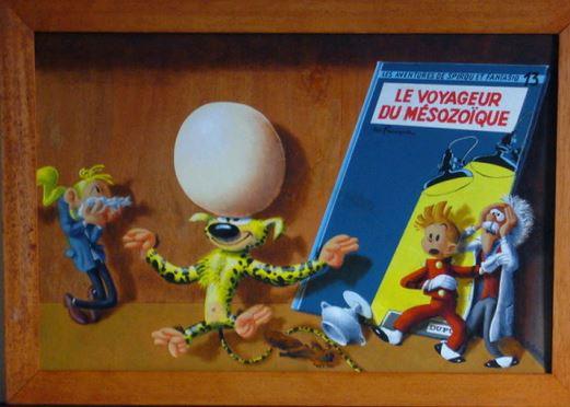 les tableaux trompe l'oeil de Gilbert Soulié Tintin12