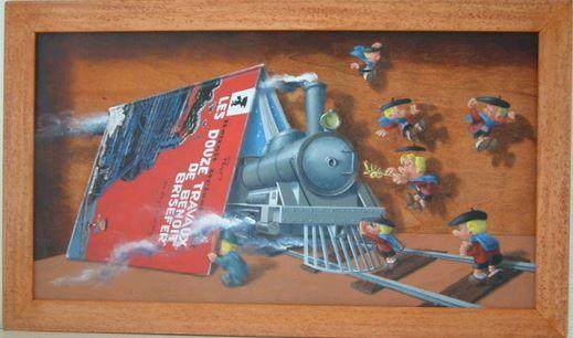 les tableaux trompe l'oeil de Gilbert Soulié Tintin13