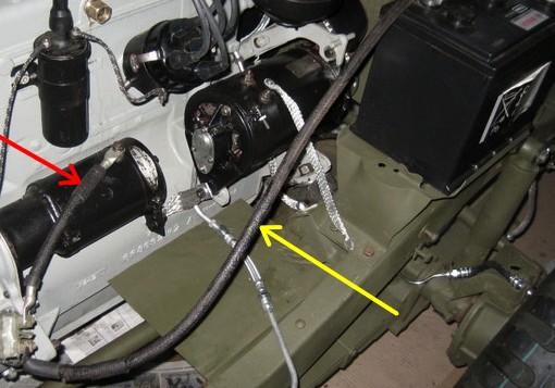 """Dimensions des cables """"Batterie - contacteur au pied"""" et """"Contacteur au pied - démarreur"""" Cable_14"""