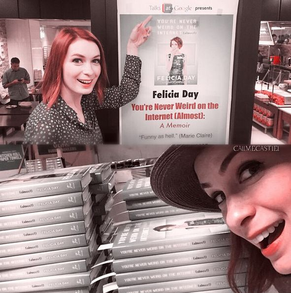 """Felicia Day sort prochainement un livre : """"You're Never Weird on the Internet (Almost)"""" Felici39"""