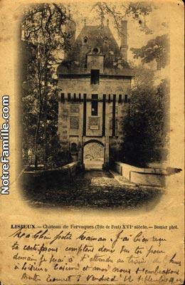 Le château de Fervaques ... Cartes10