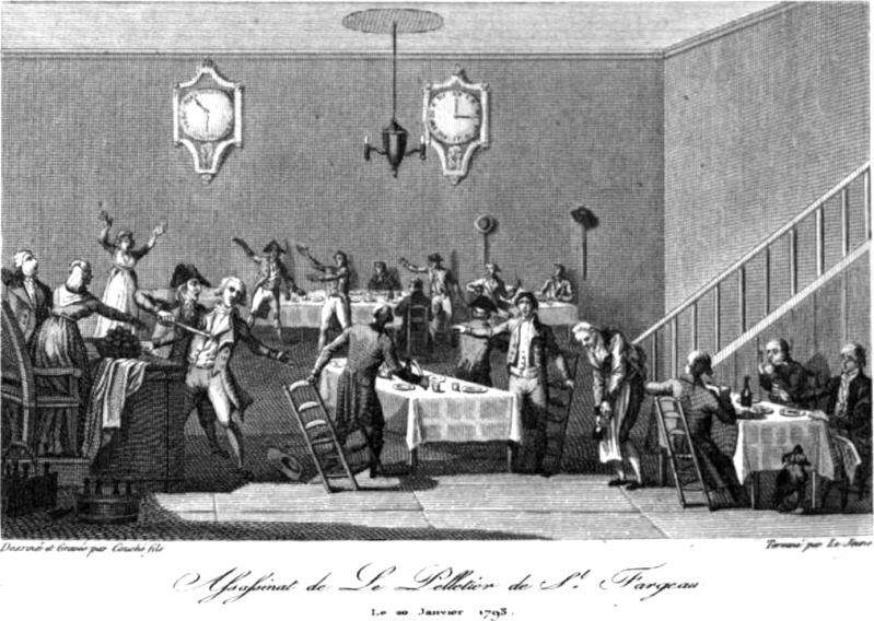 Le 20 janvier 1793, assassinat de Le Pelletier de Saint-Fargeau Lepele10