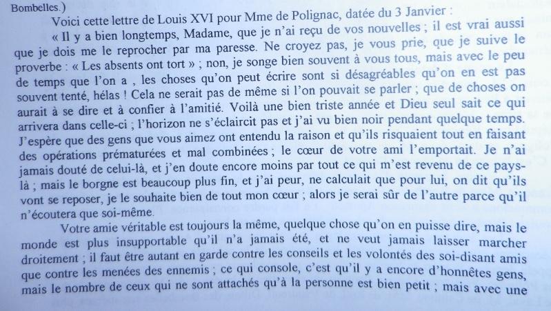 Les lettres de Louis XVI à Mme de Polignac - Page 2 Lettre10