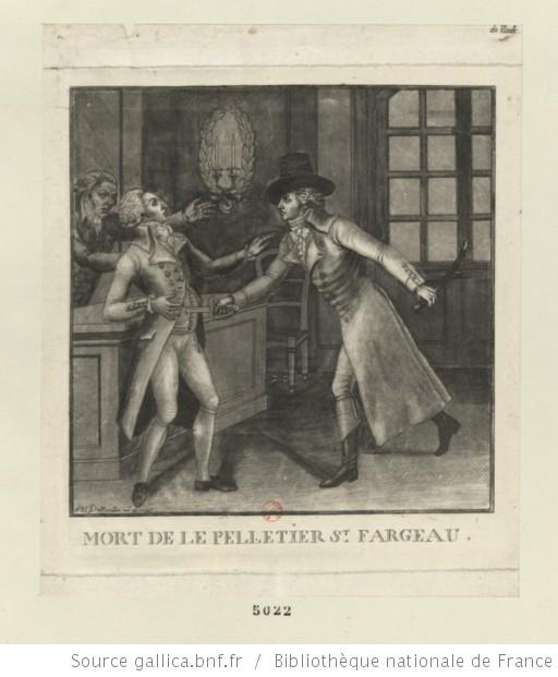 Le 20 janvier 1793, assassinat de Le Pelletier de Saint-Fargeau Mort_s10