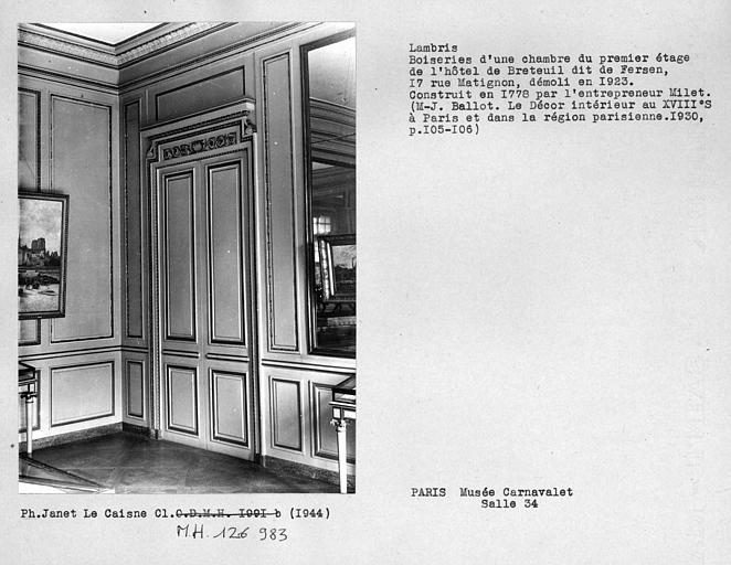 Le logement de Fersen à Paris Sap91_11