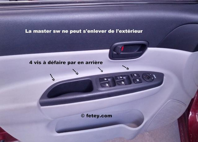 Hyundai Accent GLS 2007, enlever la master switch de vitres électriques Img_2010