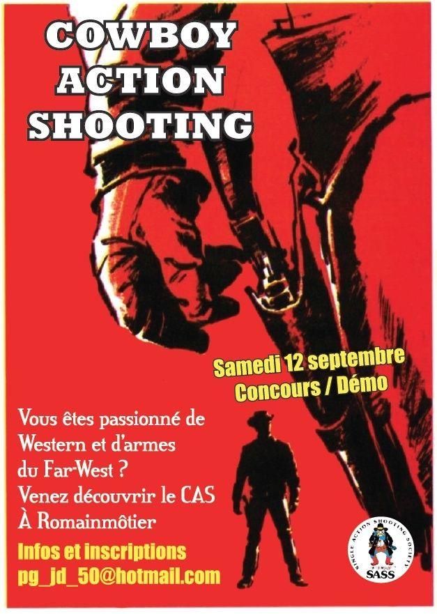 Concours  démo de Cowboy action shooting Affich11