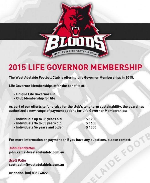 2015 Life Governor Memberships  Life10
