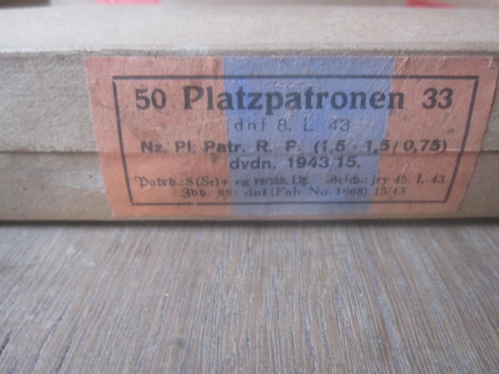 Boites de 50 platzpatronen 33 Img_2516