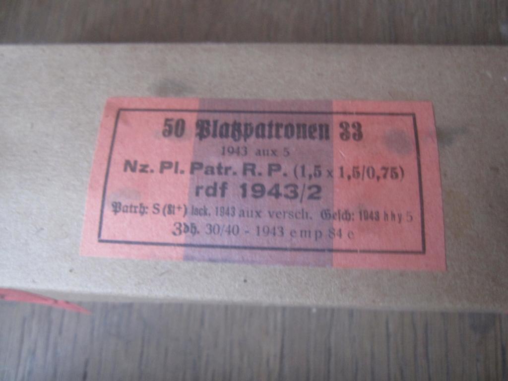 Boites de 50 platzpatronen 33 Img_2517