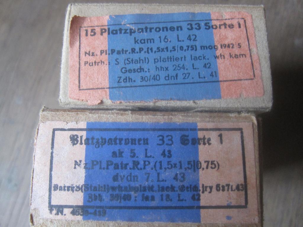 Boites de 50 platzpatronen 33 Img_2521